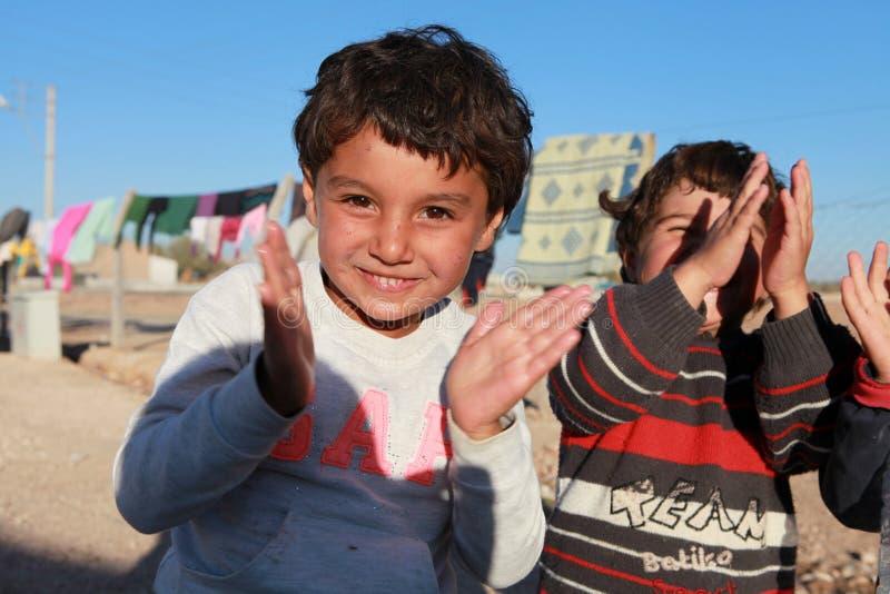 SURUC的叙利亚难民,土耳其 免版税库存照片