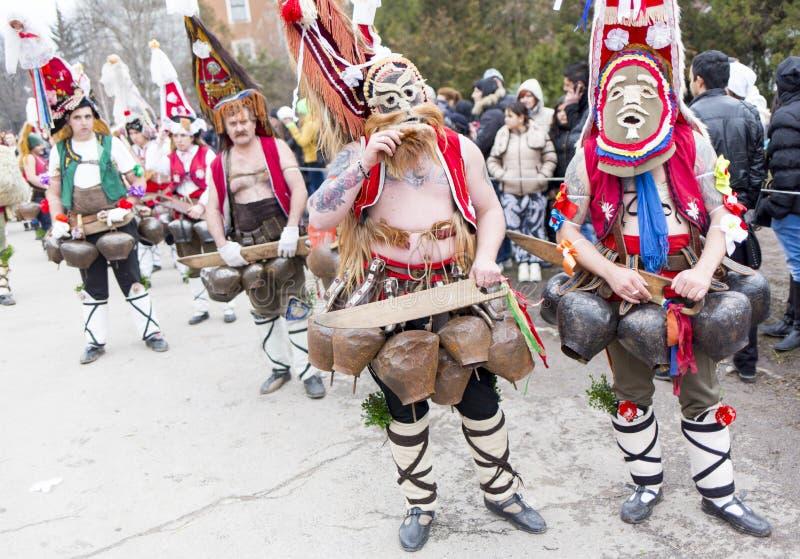 Surva mask costume festival royalty free stock image