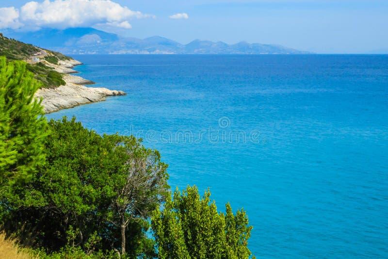 Surveillance étonnante à la plage de Xigia, Zakynthos images stock