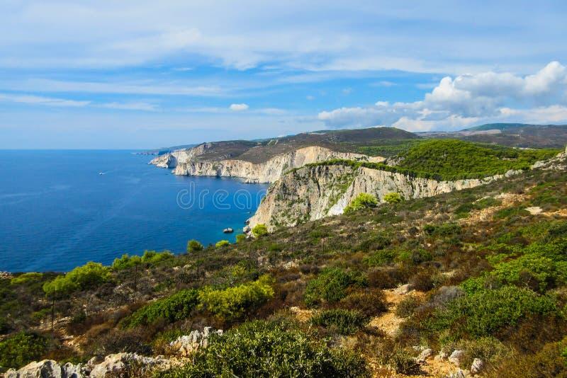 Surveillance étonnante au cap de Keri, Zakynthos, Grèce photographie stock libre de droits