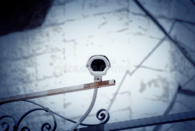 Surveillance cam daylight pov royalty free stock photo