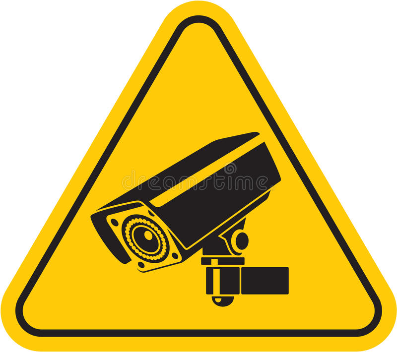 Surveillance camera. Video surveillance sign. CCTV Camera. Black vector isolated