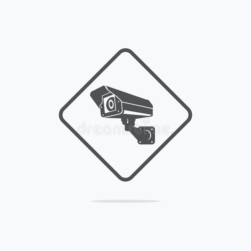 Surveillance camera icon. CCTV cameras vector icon. Vector illustration royalty free illustration