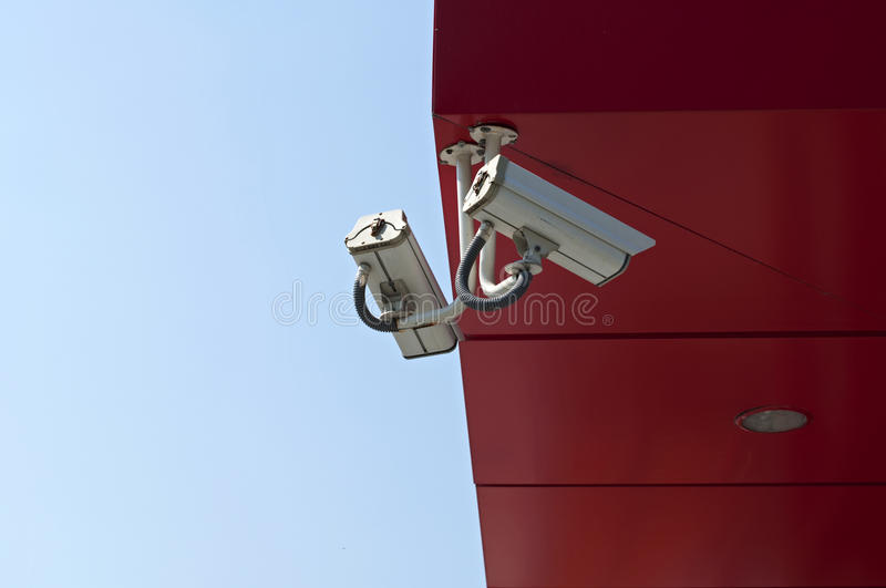 Download Surveillance Cameras stock photo. Image of looking, protect - 20810470