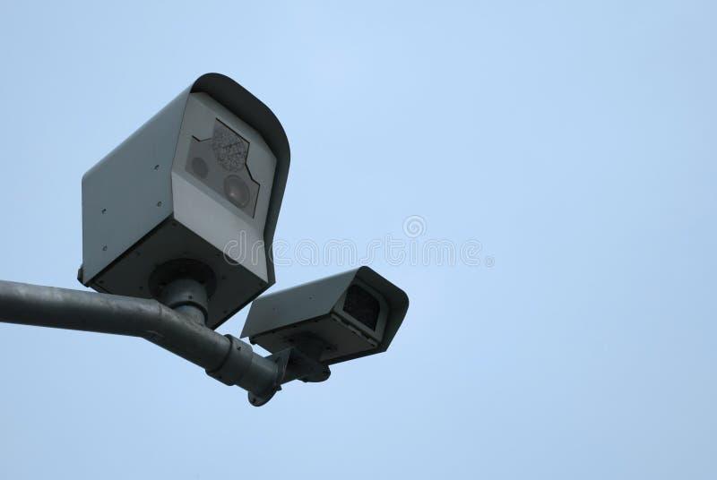 Surveillance Cameras royalty free stock photography