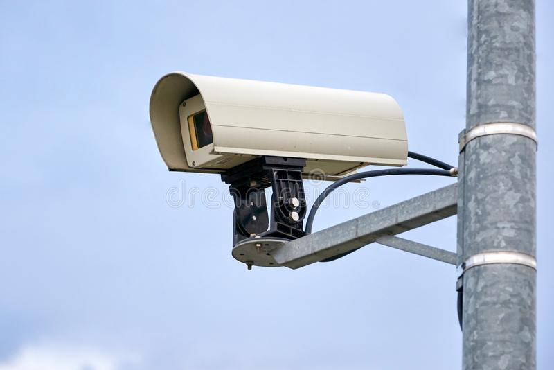 surveillance cctv cam in public royalty free stock photography