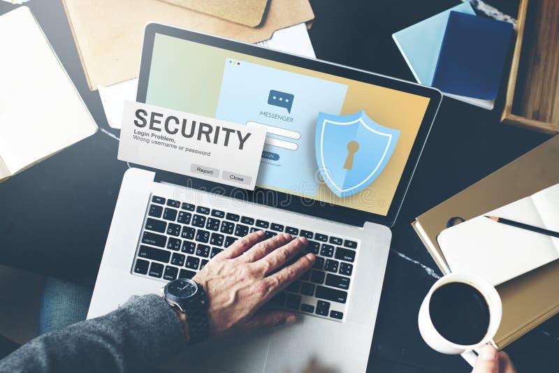 Surveillance Concep de réseau informatique de mot de passe d'Access de système de sécurité photos libres de droits