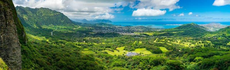 Surveillance de Nuuani Pali - Oahu image libre de droits