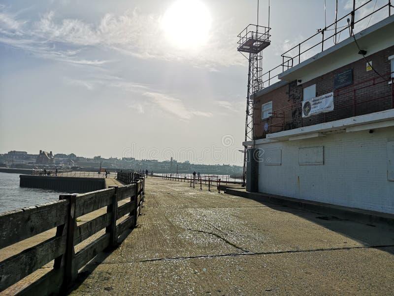 Surveillance de plage de Gorleston images stock