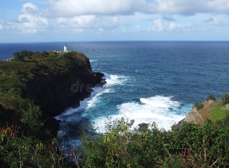 Surveillance de point de Kilauea, Kauai, Hawaï photographie stock libre de droits