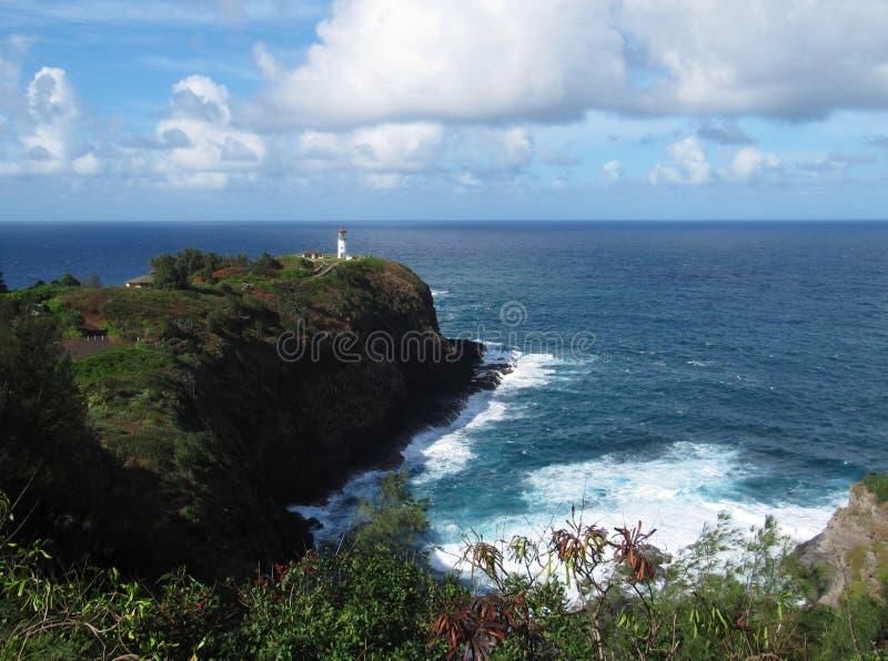 Surveillance de point de Kilauea, Kauai, Hawaï images stock