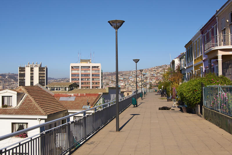 Surveillance de Valparaiso photographie stock