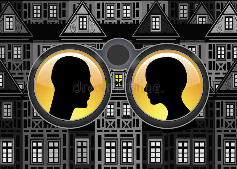 Surveillance et intimité illustration de vecteur