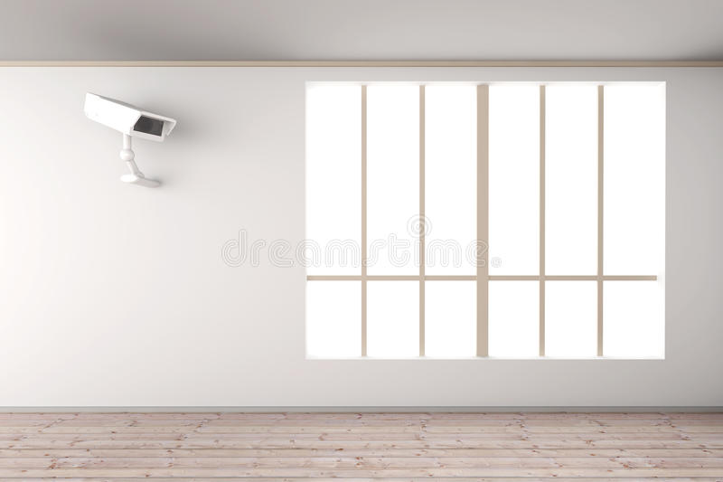 Surveillance in the Living room royalty free illustration