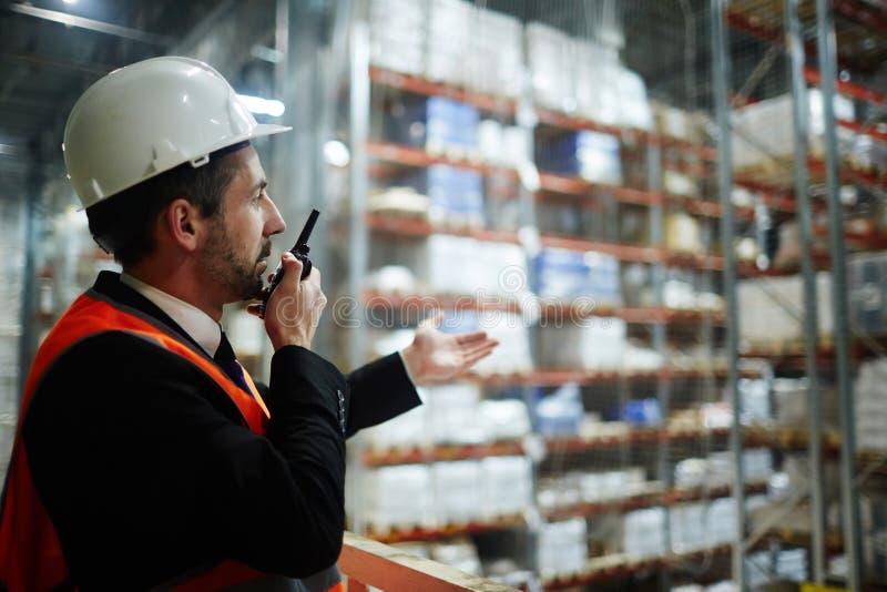Surveillant d'entrepôt photos stock