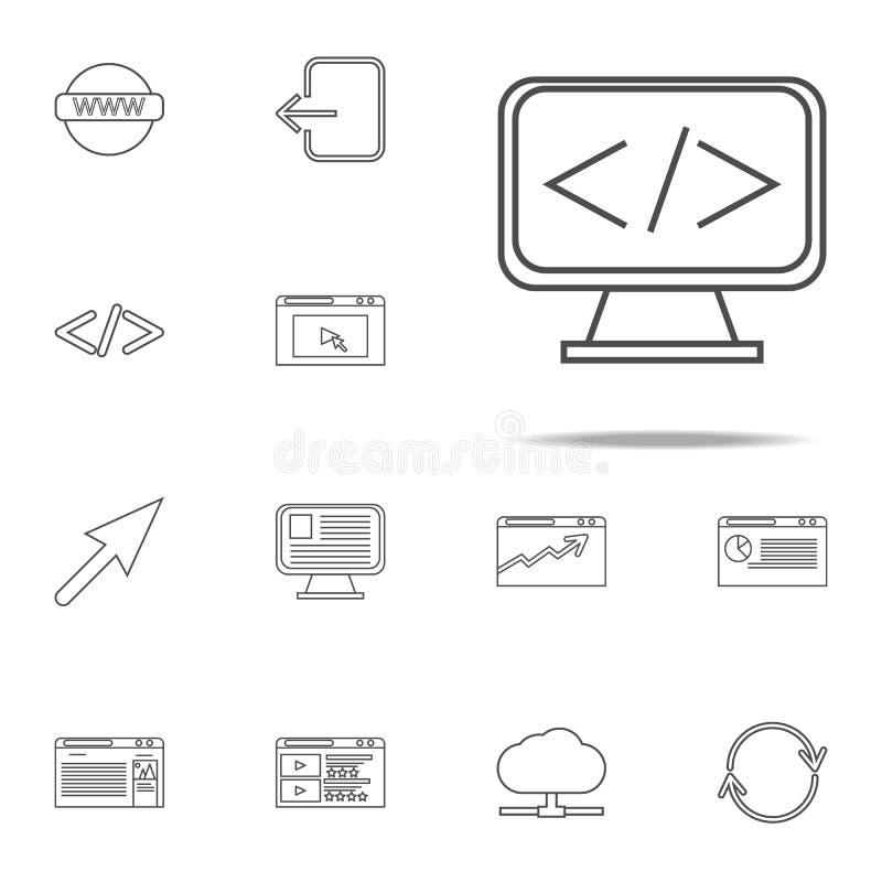 surveillez l'icône d'équation ensemble universel d'icônes de Web pour le Web et le mobile illustration de vecteur