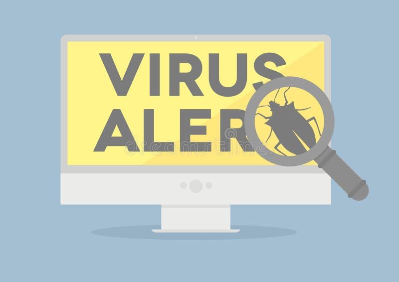 Surveillez le virus illustration de vecteur