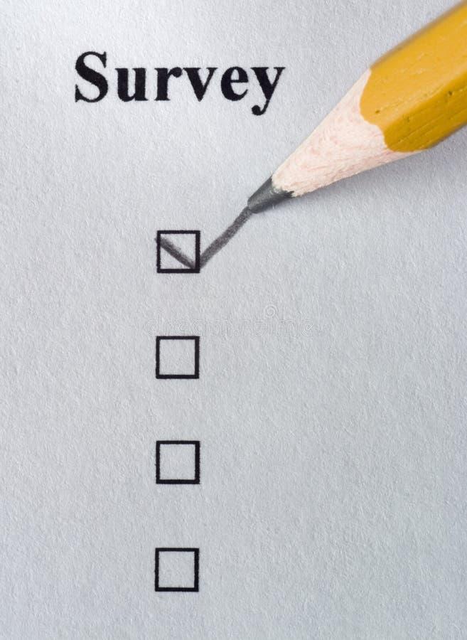 Survey royalty free stock photos