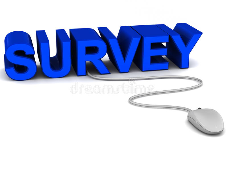 Survey royalty free illustration