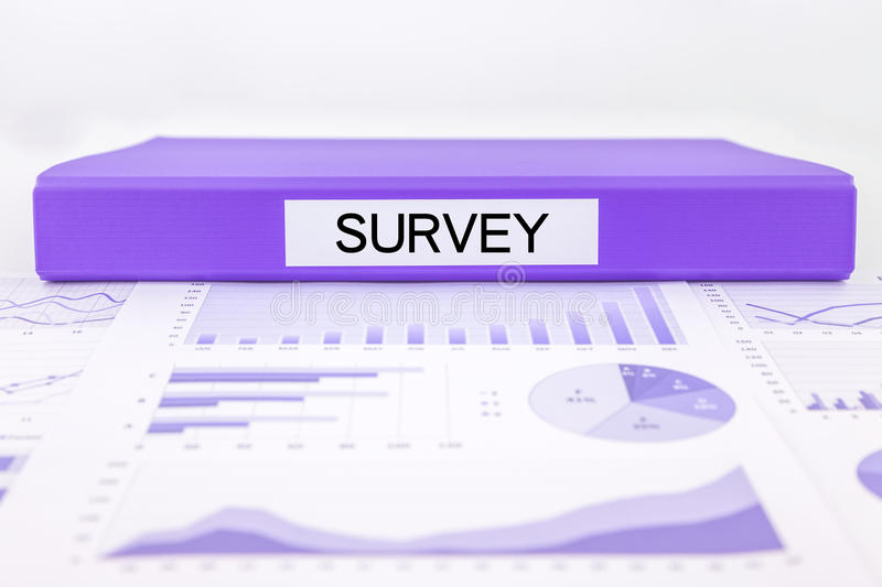 Survey documents, graphs, charts and marketing report royalty free stock images