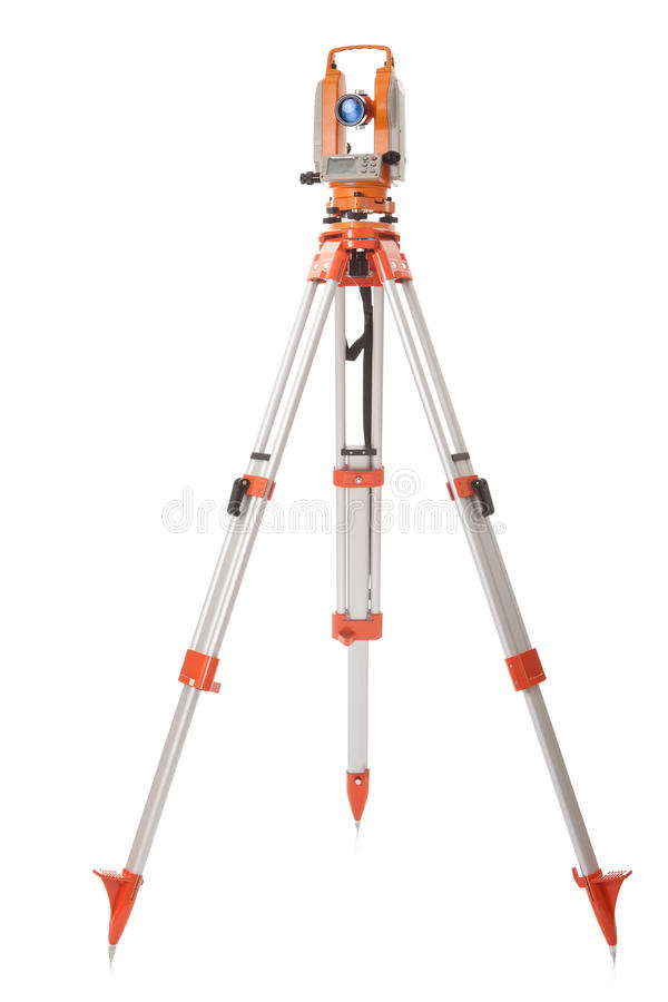Survey Equipment Theodolite On A Tripod Royalty Free Stock