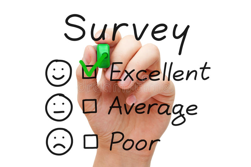 Survey Excellent Evaluation stock photography