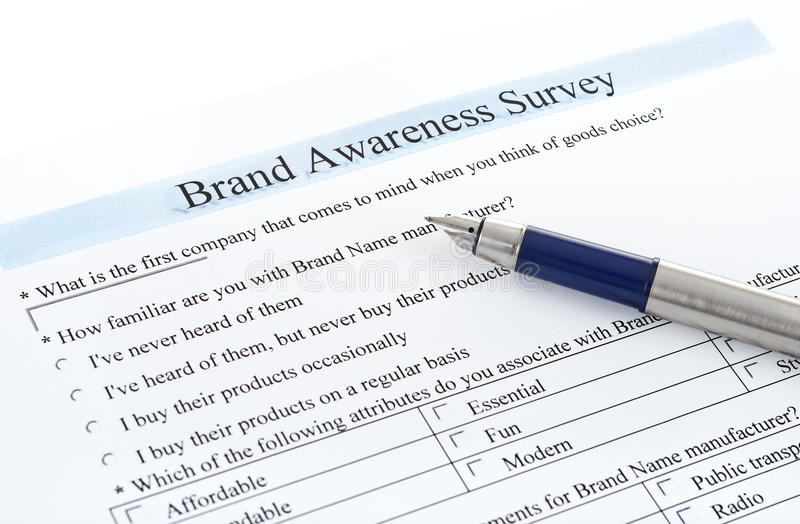 Survey form and pen