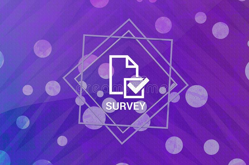 Survey icon isolated on abstract digital banner purple background 库存例证