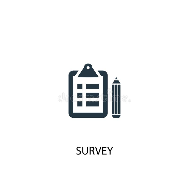 Survey icon. Simple element illustration royalty free illustration
