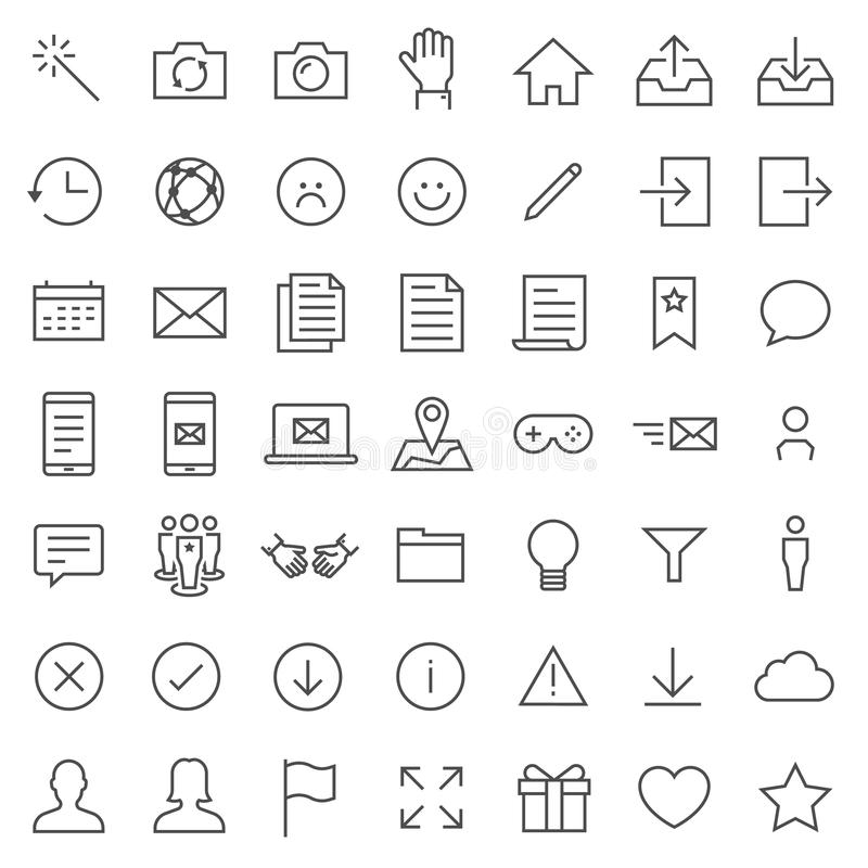 Survey and Questionnaire vector icon set. Included the icons as checklist, poll, vote, mobile, online survey, phone interview, res royalty free illustration