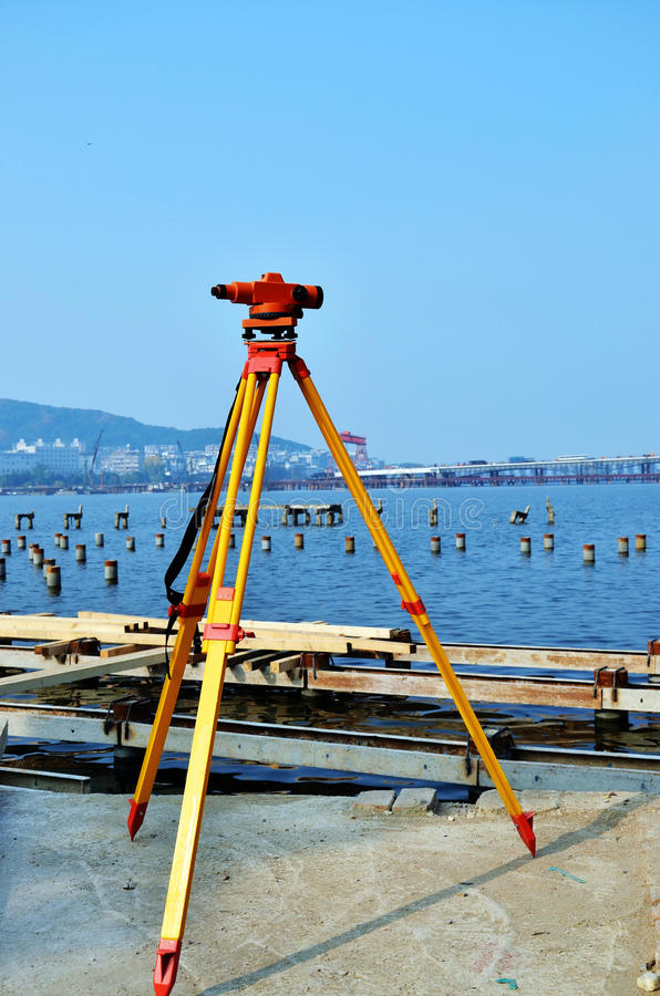 Download Surveying instrument stock photo. Image of site, measure - 22138388