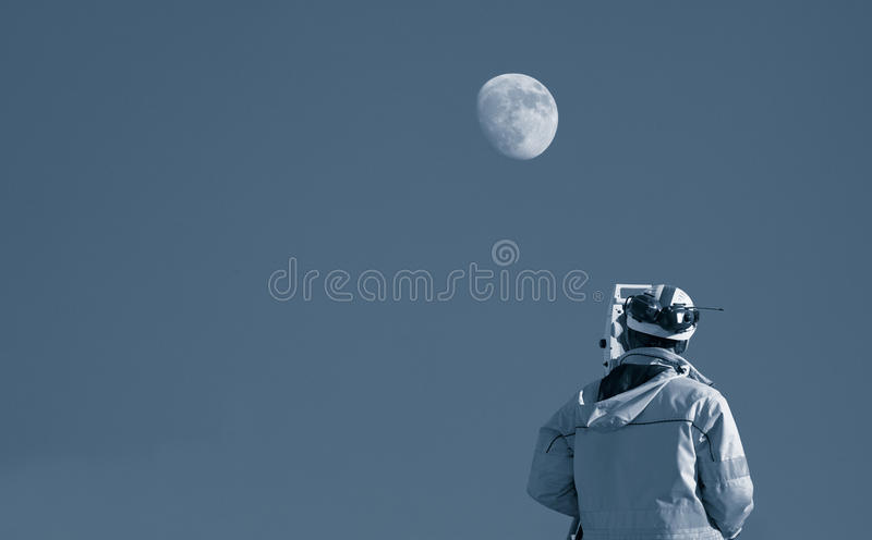 Download Surveying the moon stock image. Image of instrument, engineering - 28509343