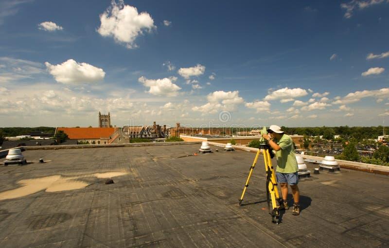 Download Surveying During Spring Time Stock Image - Image: 4056449