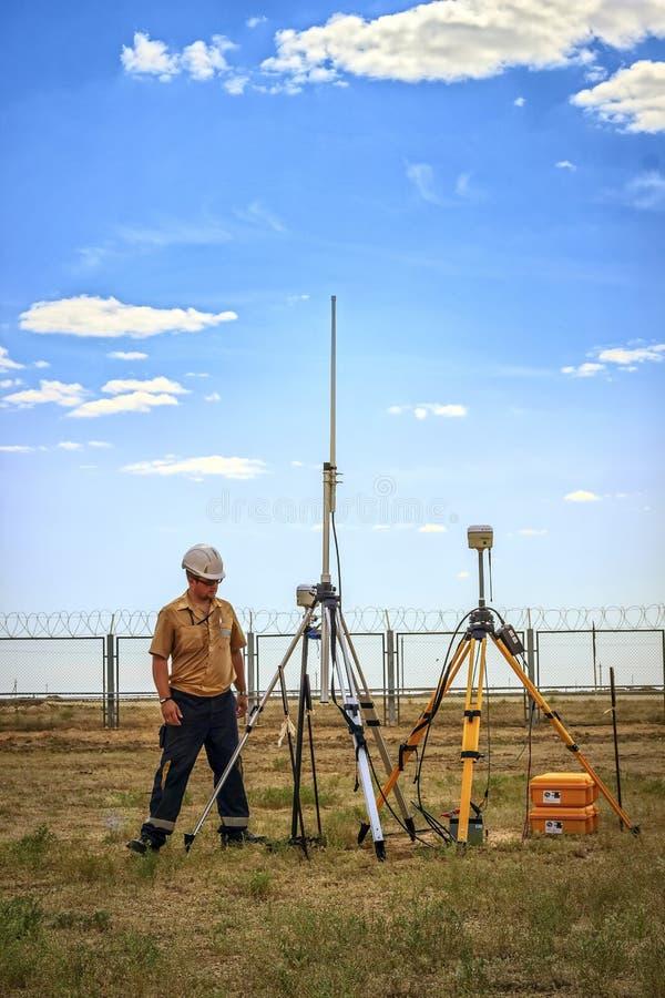Free Surveyor. Royalty Free Stock Photos - 98526858