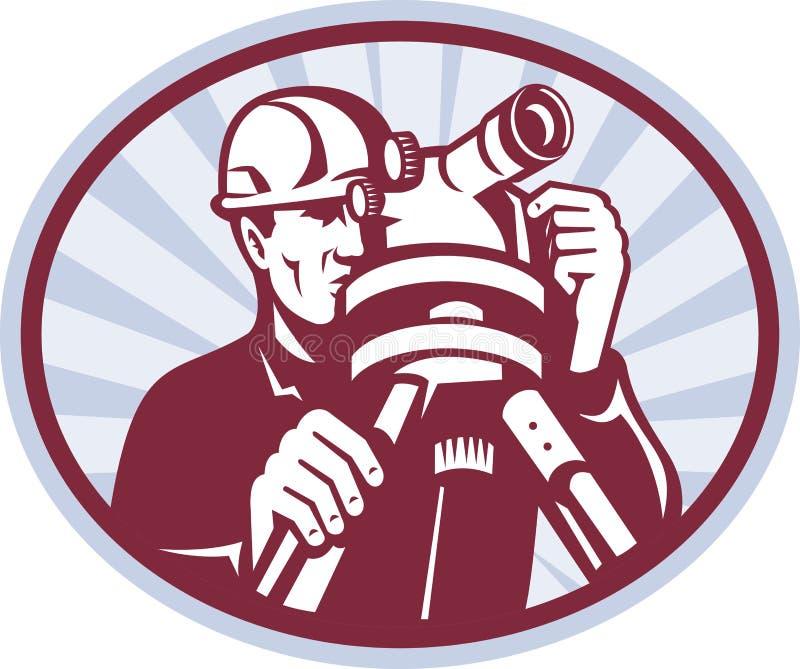 Download Surveyor Engineer Theodolite Total Station Stock Illustration - Image: 23235601