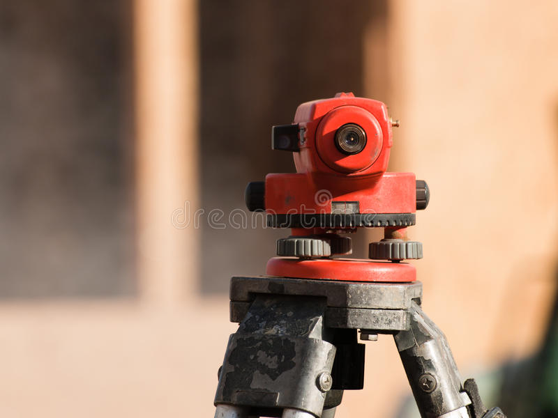 Surveyor equipment level theodolite royalty free stock photo