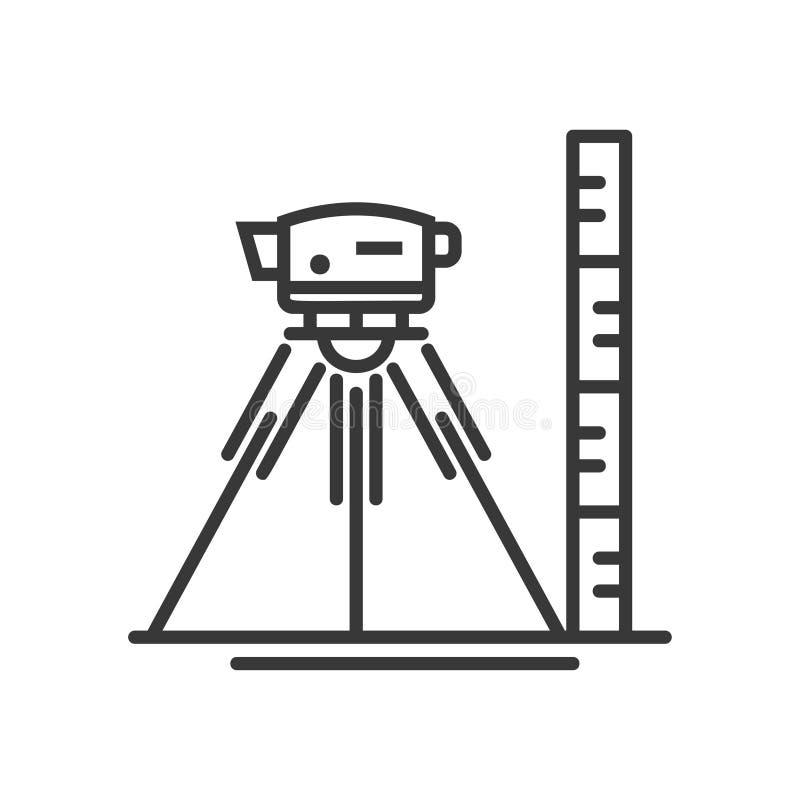 Surveyor level - vector modern line design illustrative icon royalty free illustration