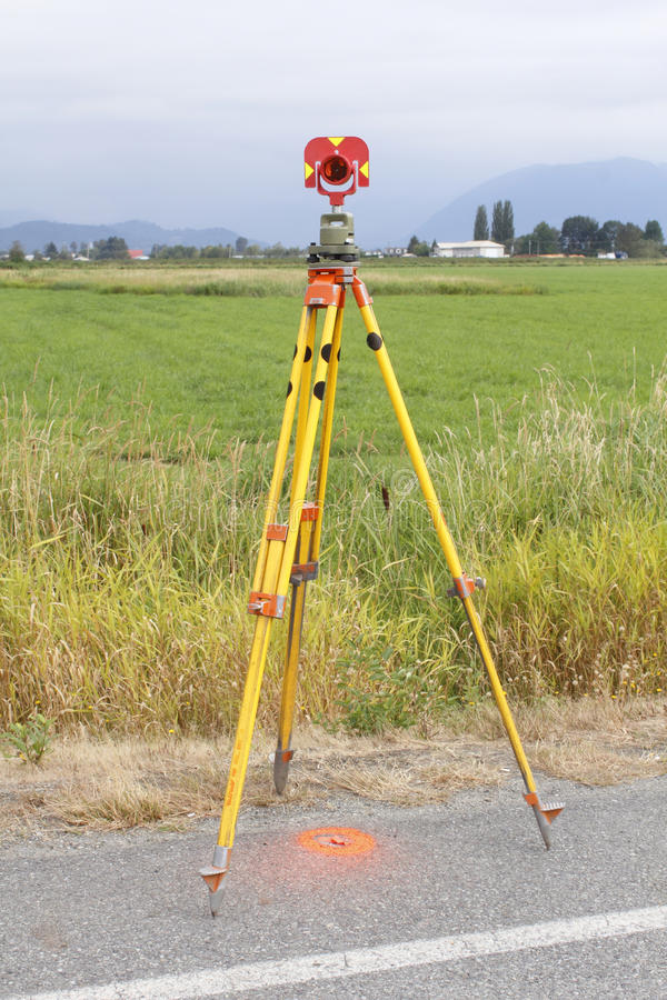 Download Surveyors Prism on Tripod stock photo. Image of medium - 26526550