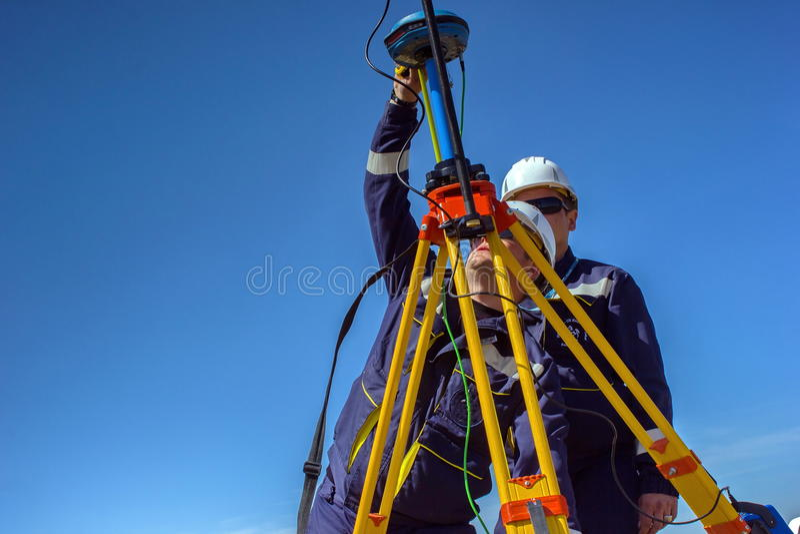 Surveyor. royalty free stock image