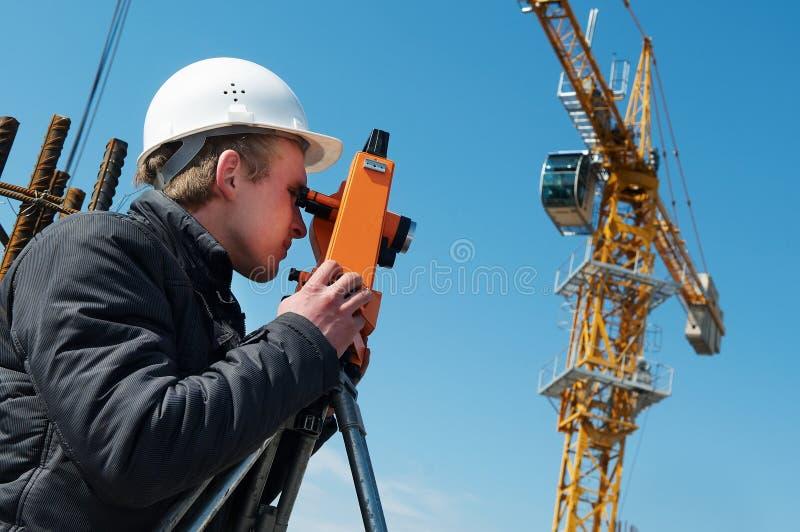 Download Surveyor With Transit Level Royalty Free Stock Images - Image: 13965159