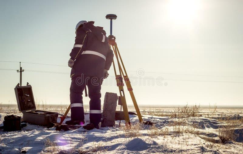 Surveyor. stock photo