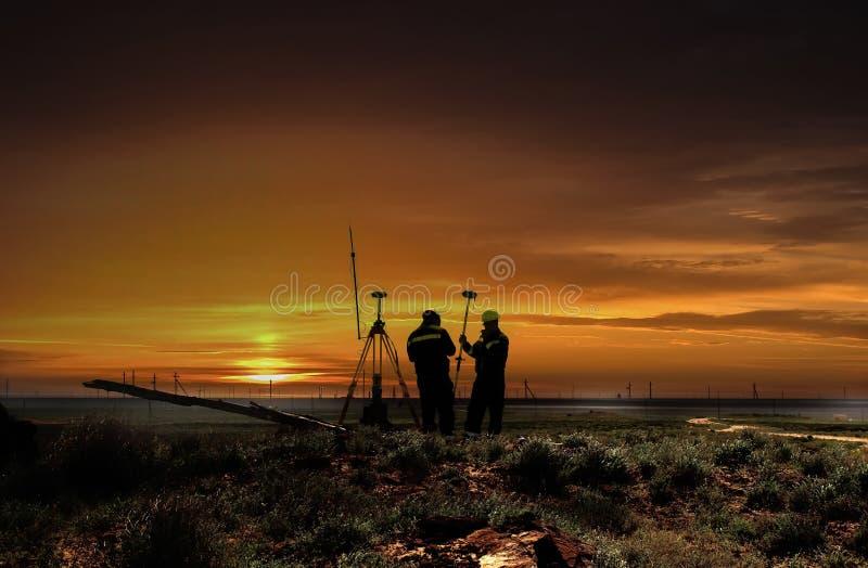Surveyors. stock photography