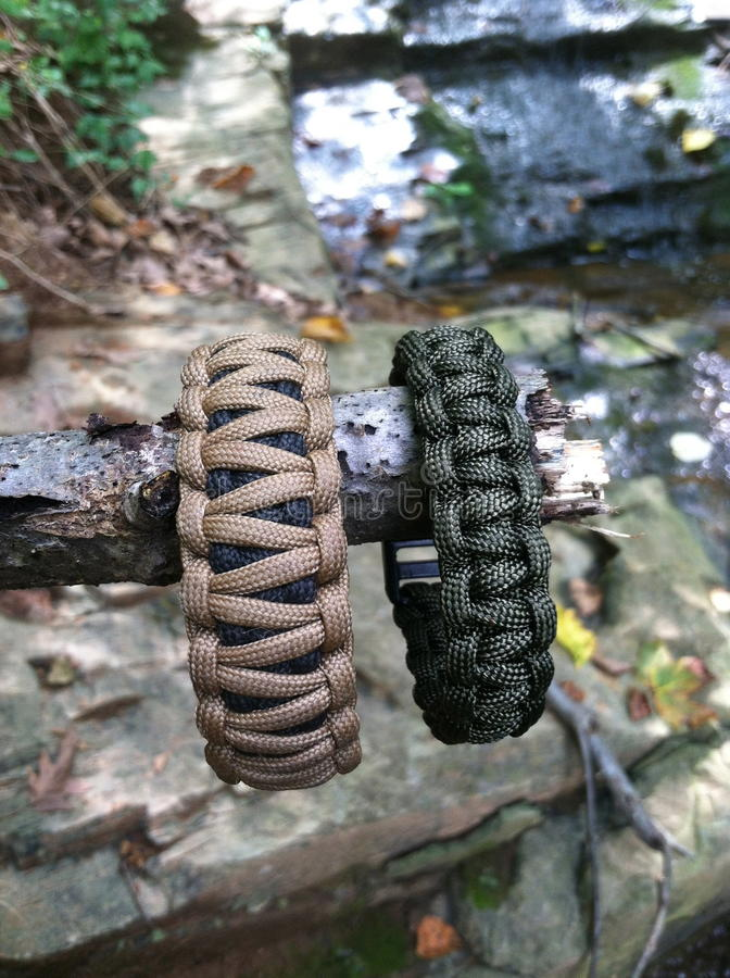 Download Survival Bracelets stock photo. Image of black, parachute - 29040652