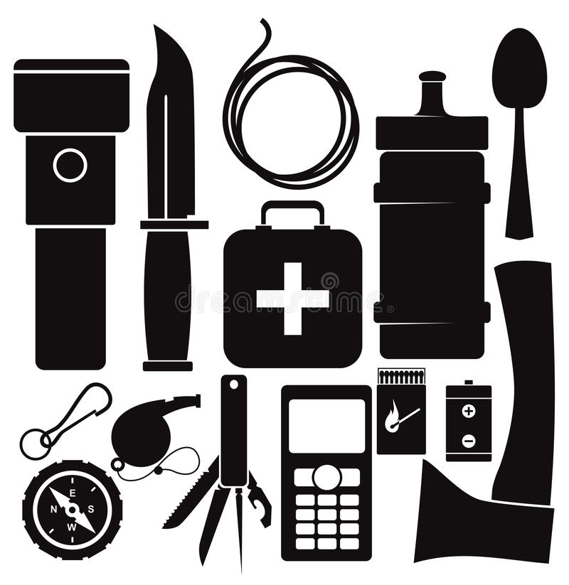 Free Survival Kit Royalty Free Stock Photography - 61965577