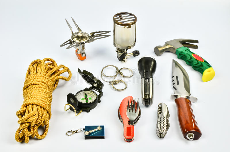 Survival kit stock photo. Image of fuel, bowie, carrying - 33516822
