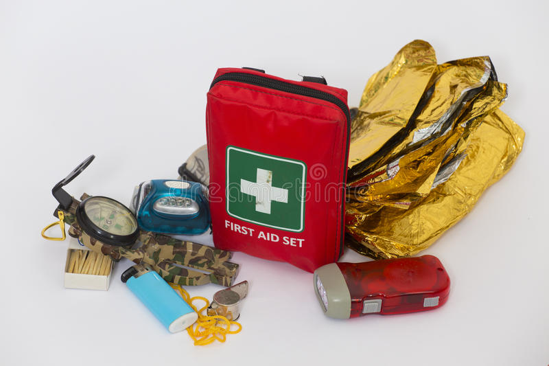Survival kit royalty free stock images