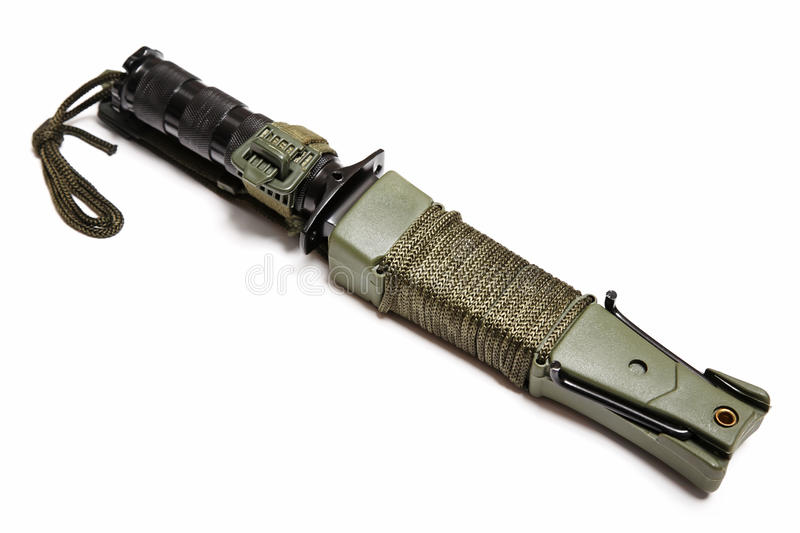 Survival knife stock image