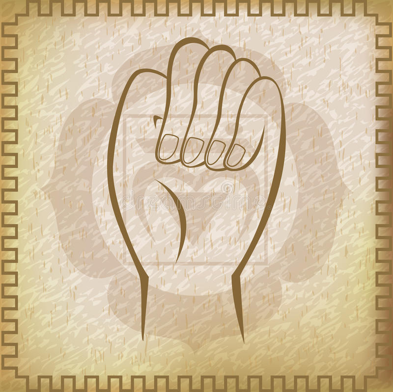 Survival Mudra stock illustration
