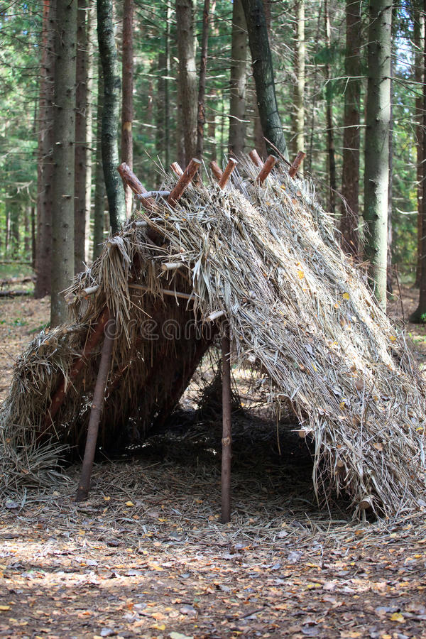 Survival Shelter royalty free stock photos