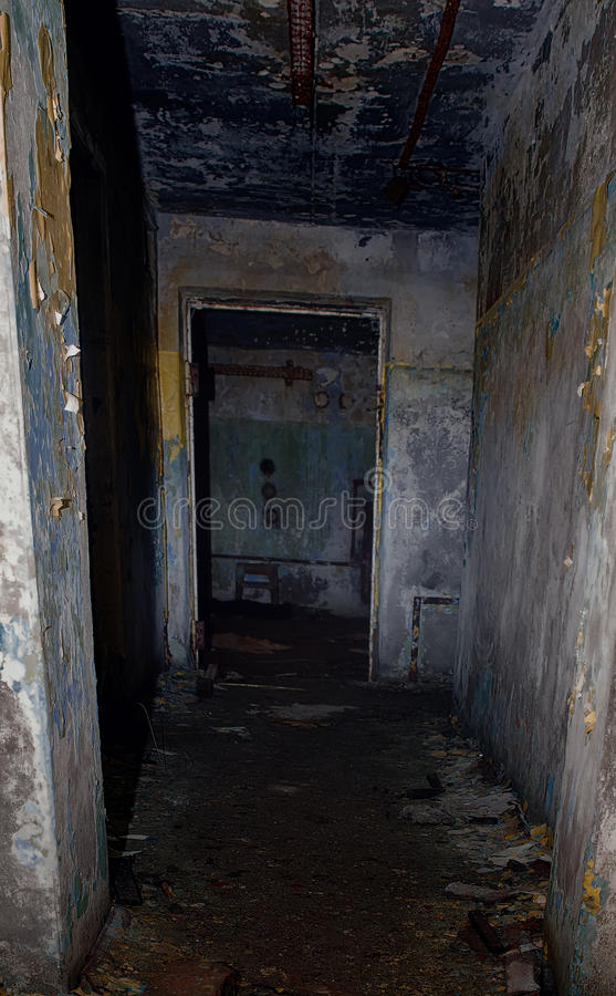 Survival underground tunnel and bunker Apocalypse doomsday royalty free stock images